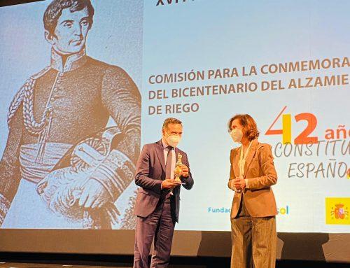 La Comisión Organizadora del 200 Aniversario del Pronunciamiento de Riego y el Trienio Liberal, Premio Plaza de España